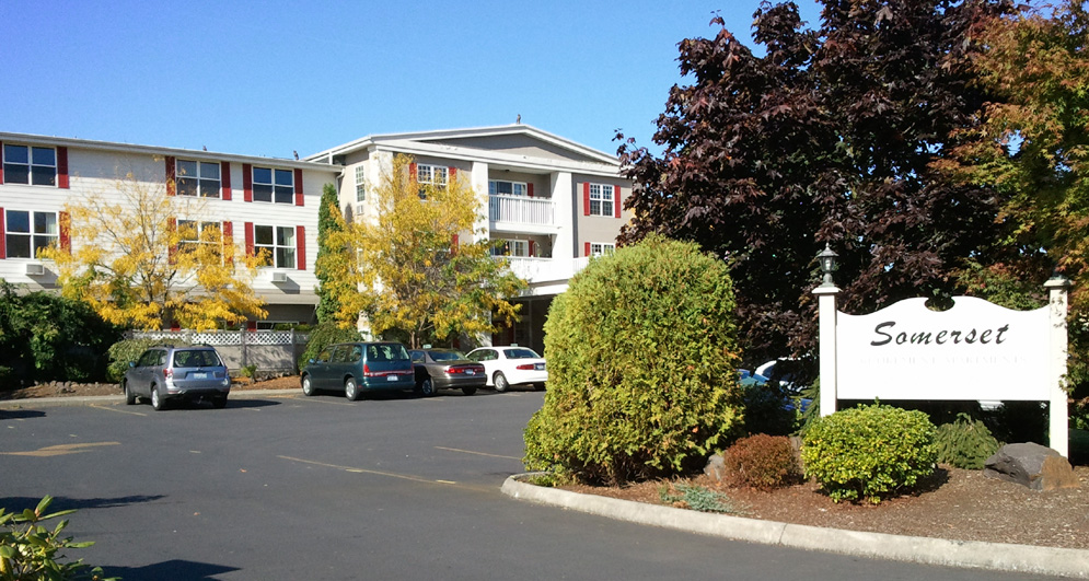 A view of Somerset senior apartments in Longview Washington