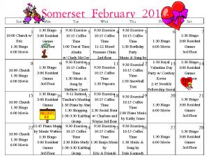 senior calendar, senior activities, senior entertainment, senior living, assisted living, retirement home