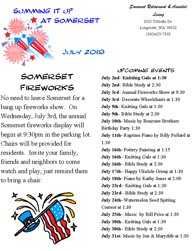 senior news longview wa, somerset news longview wa, senior activities longview wa, senior living longview wa, assisted living longview wa, retirement home longview wa