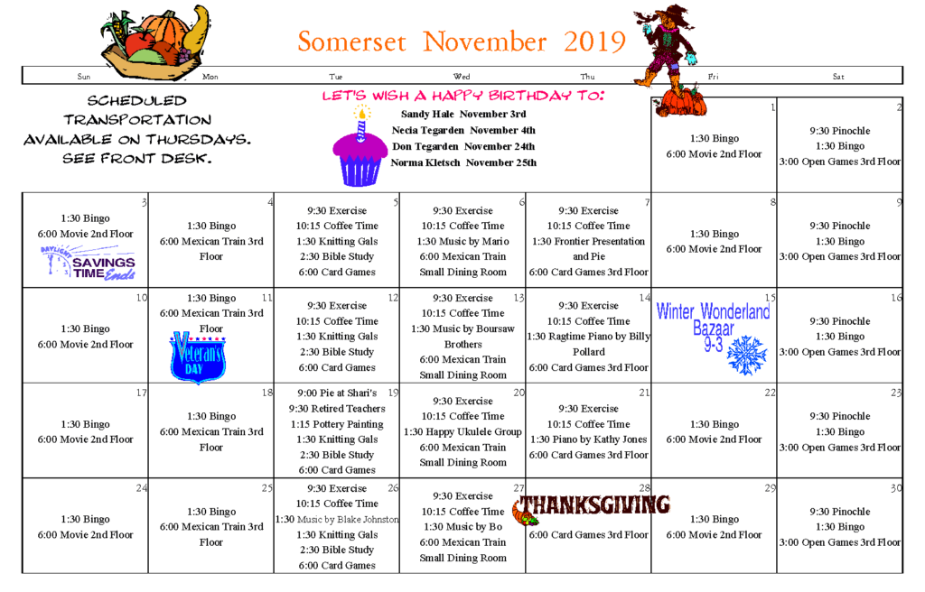 somerset calendar, senior calendar longview wa, senior news longview wa, senior news november, senior activities longview wa, longview wa, senior living longview wa, retirement home longview wa, assisted living longview wa, retirement community longview wa, senior home longview wa, somerset longview wa