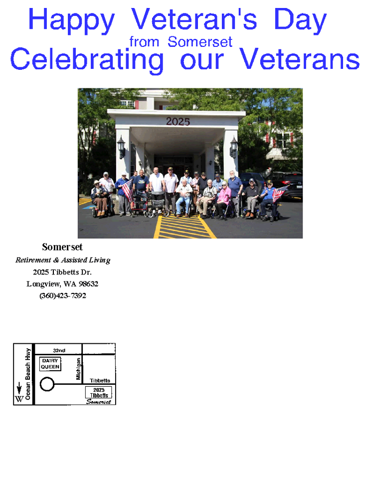 veterans longview wa, veterans retirement longview wa, somerset longview wa, veterans assisted living longview wa
